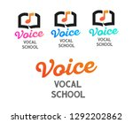 set of vector logos for vocal... | Shutterstock .eps vector #1292202862