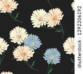 blossom floral seamless pattern ... | Shutterstock .eps vector #1292206192