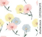 blossom floral seamless pattern ... | Shutterstock .eps vector #1292206195