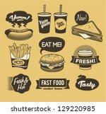 retro emblem | Shutterstock .eps vector #129220985