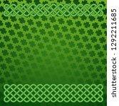 rich green saint patrick's day...   Shutterstock .eps vector #1292211685