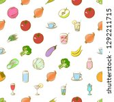 drinks  fruits and vegetables... | Shutterstock .eps vector #1292211715