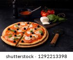 pizza margarita and pepperoni | Shutterstock . vector #1292213398
