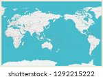 world map pacific centered. old ... | Shutterstock .eps vector #1292215222