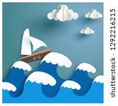 sea and a sky. vector | Shutterstock .eps vector #1292216215