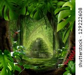 mystic jungle | Shutterstock . vector #129222608