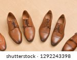 brown men's leather shoes for... | Shutterstock . vector #1292243398