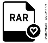 rar file format with heart... | Shutterstock .eps vector #1292244775