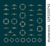 vintage decor elements and... | Shutterstock .eps vector #1292253742