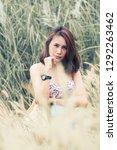 a portrait of a sexyl asian...   Shutterstock . vector #1292263462