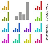 bar chart icon in multi color....