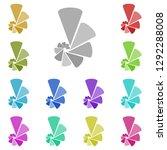 windrose digram icon in multi...