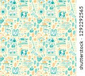 seamless pattern with hand... | Shutterstock .eps vector #1292292565