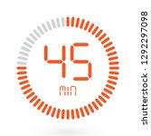 coloured digital countdown...