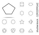 pentagon icon. geometric... | Shutterstock .eps vector #1292299162