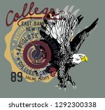 eagle team college style vector ... | Shutterstock .eps vector #1292300338