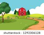 an outdoor farm landscape ... | Shutterstock .eps vector #1292306128