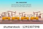 freight railcar for oil... | Shutterstock .eps vector #1292307598