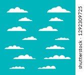 clouds vector illustration | Shutterstock .eps vector #1292309725
