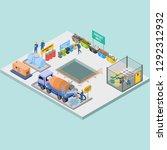 isometric 3d vector... | Shutterstock .eps vector #1292312932