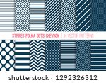 navy blue and white chevron ... | Shutterstock .eps vector #1292326312