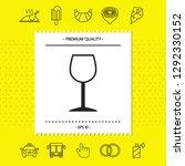wineglass symbol icon. graphic... | Shutterstock .eps vector #1292330152