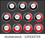 progress indicators set  vector ... | Shutterstock .eps vector #129233735
