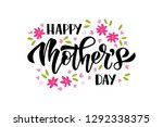 happy mother's day hand drawn... | Shutterstock .eps vector #1292338375