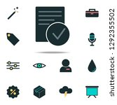 verified document icon. web... | Shutterstock .eps vector #1292355502