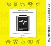 electrocardiogram symbol icon.... | Shutterstock .eps vector #1292356528