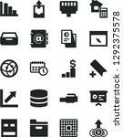 solid black vector icon set  ... | Shutterstock .eps vector #1292375578