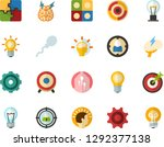 color flat icon set   lamp flat ...   Shutterstock .eps vector #1292377138