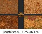 set corrosion  rusty texture ... | Shutterstock .eps vector #1292382178