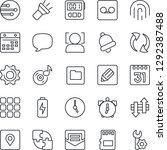 thin line icon set   menu...