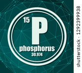 phosphorus chemical element.... | Shutterstock .eps vector #1292399938