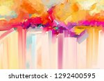 abstract colorful oil  acrylic... | Shutterstock . vector #1292400595