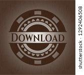 download realistic wood emblem   Shutterstock .eps vector #1292406508