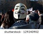 madrid   february 23  ... | Shutterstock . vector #129240902