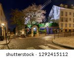 view of the old street on the... | Shutterstock . vector #1292415112