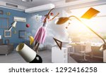 dreaming to become ballerina.... | Shutterstock . vector #1292416258