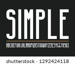 modern alphabet fonts and... | Shutterstock .eps vector #1292424118