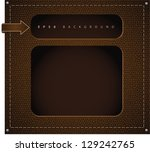 leather background. eps 8... | Shutterstock .eps vector #129242765
