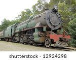 Old steam train in use for tourist rides - stock photo