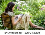 Young Woman With Tablet Pc In A ...