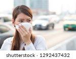 city air pollution concept.... | Shutterstock . vector #1292437432