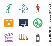 action icons. trendy 9 action... | Shutterstock .eps vector #1292454925
