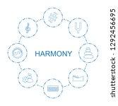 harmony icons. trendy 8 harmony ... | Shutterstock .eps vector #1292456695