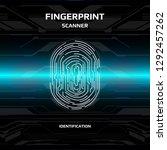 futuristic fingerprint light...