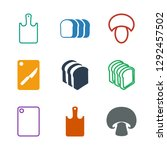 sliced icons. trendy 9 sliced... | Shutterstock .eps vector #1292457502
