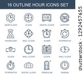 hour icons. trendy 16 hour... | Shutterstock .eps vector #1292457655
